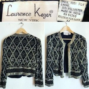 Vintage Lawrence Kazar Sequins & Bead Jacket
